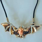 3-D TRI COLOR FLYING BAT ROPE NECKLACE (Sold by the dozen)