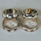 BLACK AND WHITE BAND RINGS (Sold by the PIECE OR dozen) *- CLOSEOUT $ 1 EACH