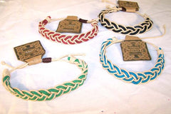 BRAIDED HEMP ASST COLOR ROPE BRACELETS (sold by the piece or dozen ) CLOSEOUT $ 50 CENTS EA
