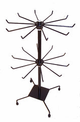 BLACK 20 INCH 2 LEVEL WIRE COUNTER DISPLAY RACK (sold by the piece )