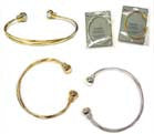 MAGNETIC GOLD OR SILVER BANGLE BRACELETS (Sold by the piece or dozen) - CLOSEOUT $ 1.50 EA