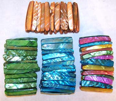 LONG SHELL BRACELETS (Sold by the PIECE OR dozen) CLOSEOUT $ 1 EA