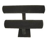 VELVET TWO LEVEL BRACELET DISPLAY RACK (Sold by the piece) CLOSEOUT NOW ONLY $5 EA