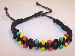 BEADED RASTA BRACELET (Sold by the PIECE OR dozen)