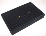 BLACK SMALL RING DISPLAY TRAY (Sold by the piece)