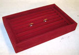 RED SMALL RING DISPLAY TRAY (Sold by the piece) *- CLOSEOUT $ 3.50 EACH