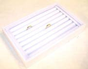 WHITE SMALL RING DISPLAY TRAY (Sold by the piece)