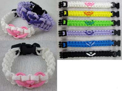 COLOR W KNOT PARACORD BRACELETS  (Sold by the PIECE OR  dozen) *- CLOSEOUT AS LOW AS  50 CENTS