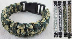CAMOFLAUGED SOLID PARACORD BRACELETS  (Sold by the dozen) CLOSEOUT NOW $ 1 EA