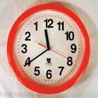 BACKWARDS RUNNING NOVELTY CLOCK (Sold by the piece) * CLOSEOUT $5 EA