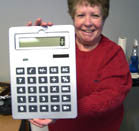 GIANT SIZE SOLAR CALCULATOR (Sold by the piece)