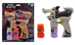 LIGHT UP WOLF BUBBLE GUN WITH SOUND (sold by the piece ) **- CLOSEOUT NOW $3.95 EA