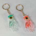 CRYSTAL HAND KEY CHAIN (Sold by the dozen) CLOSEOUT NOW ONLY 10 CENT EACH