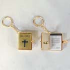 GOLD BIBLE KEY CHAIN (Sold by the dozen)