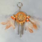 DREAM CATCHER WITH WIND CHIMES KEY CHAIN (Sold by the dozen)