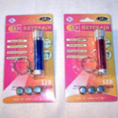 LED FLASHLIGHT KEY CHAINS (Sold by the dozen) CLOSEOUT NOW ONLY 50 CENTS EA