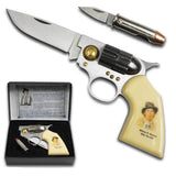 BILLY THE KID OUTLAW COLLECTOR GUN KNIFE SET W BULLET ( sold by the piece )