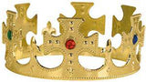 KING CROWN WITH CROSSES AND JEWELS (Sold by the piece or dozen)