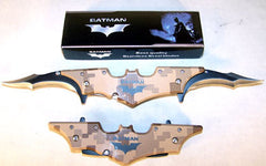 LARGE BAT MAN CAMOUFLAGE 11 INCH DOUBLE BLADE KNIFE (Sold by the piece) CLOSOUT NOW ONLY $5.75  EA