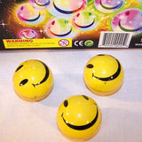 FLASHING SMILE FACE GLIDE SLIDE BALLS (Sold by the dozen) *- CLOSEOUT NOW 50 CENTS EA
