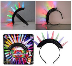 LIGHT UP SPIKE MOHAWK (Sold by the piece) CLOSEOUT $2.50 EA