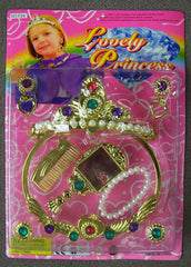 LOVELY PRINCESS BEAUTY SET WITH JEWEL CROWN (Sold by the dozen) -* CLOSEOUT NOW ONLY $1.00 EA