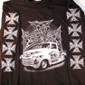 TRUCK BARBWIRE LONG SLEEVE BLACK TEE SHIRT (Sold by the piece) *- CLOSEOUT $ 3.95 EA