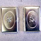 ASSTORTED DESIGNS PEWTER METAL CIGARETTE CASES (Sold by the piece or dozen ) * CLOSEOUT 2.50 EACH