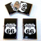 ROUTE 66 FLIP TOP CRYSTAL DOME LIGHTER (Sold by the piece or dozen)