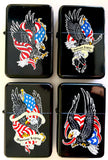 USA EAGLE AMERICAN LEGEND FLAG FLIP TOP OIL LIGHTER (Sold by the piece or dozen)