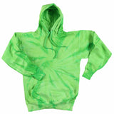 LIME GREEN MONSOON TIE DYED HOODIE (sold by the piece ) *- CLOSEOUT NOW ONLY $9.50 EA