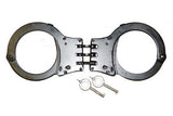 BLACK HINGED SECURITY HANDCUFFS ( sold by the piece )