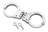 NICKLE CHROME HINGED SECURITY HANDCUFFS ( GREEN BOX )  (sold by the piece )