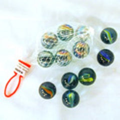 BAG OF LARGE 1 INCH MARBLES (Sold by the dozen bags) CLOSEOUT NOW ONLY 50 CENTS