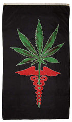 POT LEAF MEDICAL MARIJUANA 3' x 5' FLAG (Sold by the piece)