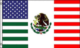 MEXICO AMERICAN FRIENDSHIP COMBO FLAG 3 X 5 FLAG ( sold by the piece )