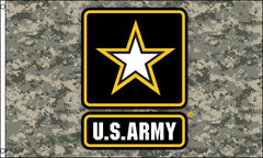 CAMOUFLAGE US ARMY STAR 3 X 5 FLAG ( sold by the piece )