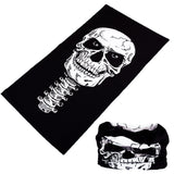 SKELETON BONES MULTI FUNCTION SEAMLESS BANDANA WRAP ( sold by the piece or dozen )