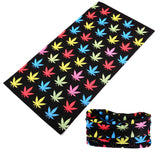 MULTIPLE COLOR POT LEAVES MULTI FUNCTION SEAMLESS BANDANA WRAP ( sold by the piece or dozen )