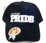 NATIVE PRIDE DREAMCATCHER SHIELD EMBROIDERED BASEBALL HAT (Sold by the piece) -* CLOSEOUT $2.50 EA