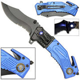 US NAVY LED TATICAL FOLDING KNIFE (sold by the piece )