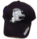 NIGHT RIDER SKELETON RIDING MOTORCYCLE BASEBALL HAT (Sold by the piece) -* CLOSEOUT ONLY $ 1.50 EA