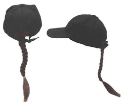 BROWN BRAID BASEBALL HAT (Sold by the piece)