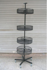 BIN BASKET WIRE DISPLAY RACK (Sold by the piece)  -* CLOSEOUT NOW ONLY $65 EA
