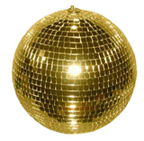 12 INCH GOLD MIRROR REFLECTION DISCO BALL (Sold by the piece)