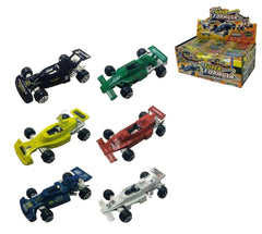 DIE CAST METAL 3 INCH FORMULA boxed RACE CARS (Sold by the piece or dozen) *- CLOSEOUT NOW 75 CENTS EA