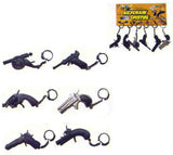 DIE CAST ASSORTED SMALL CAP GUN KEY CHAIN ( Sold by the dozen ) CLOSEOUT NOW 50 CENTS EA