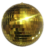 8 INCH GOLD MIRROR REFLECTION DISCO BALL (Sold by the piece)