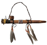 BUFFALO HEAD WOODEN PEACE PIPE (Sold by the piece)