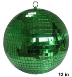 12 INCH GREEN COLOR MIRROR REFLECTION DISCO BALL (Sold by the piece)